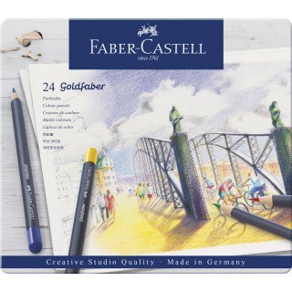 Goldfaber Farbstift, 24er Metalletui