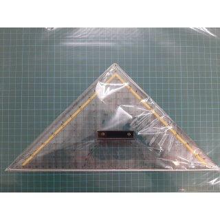Geometriedreieck 325 mm aus Acrylglas mit Schneidekante