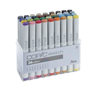 Copic Sketch Marker 36er Basis-Set