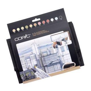 Copic Marker 12er Set Architekturfarben im Wallet