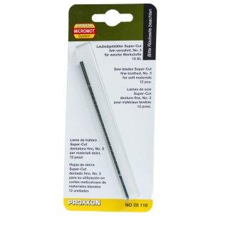 Proxxon Sägeblätter Fein verzahnt (34 Zahn auf 25 mm), 12 Stück Inhalt