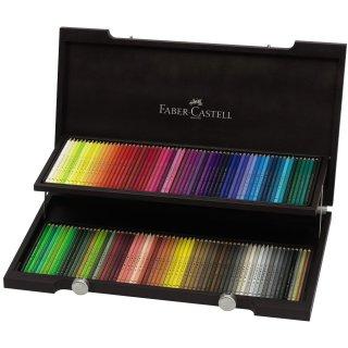 Faber-Castell Polychromos 120 Künstlerfarbstifte im edlen Holzkasten