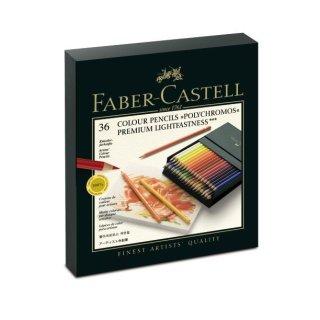 Faber-Castell Polychromos 36er Künstlerfarbstifte in einer Atelierbox
