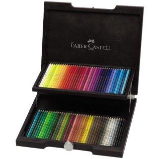 Faber-Castell Polychromos 72 Künstlerfarbstifte im edlen Holzkasten