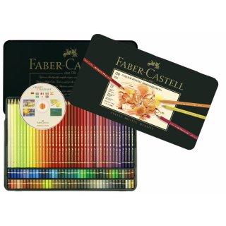 Faber-Castell Polychromos Künstlerfarbstifte Metalletui mit 120 Stiften