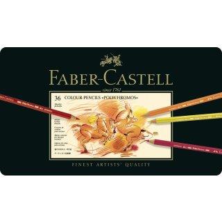 Faber-Castell Polychromos Künstlerfarbstifte Metalletui mit 36 Stiften