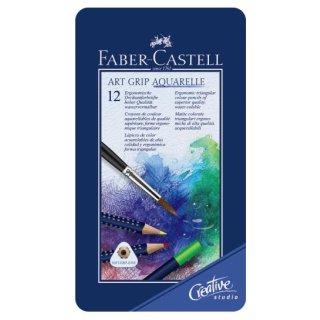 Faber-Castell Art Grip Aquarellstifte 12er Metalletui