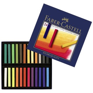 Faber-Castell STUDIO Softpastellkreide Kartonetui mit 24 Softpastellkreiden