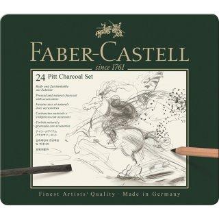 Faber-Castell Set PITT Kohle Set 24-teilig