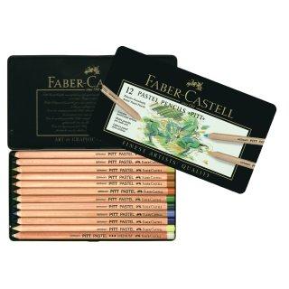 Faber-Castell PITT Pastellstifte 12er Metalletui
