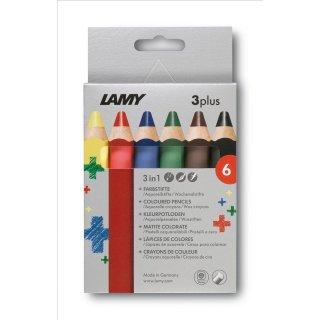 Lamy 3plus, Modell 520 Farbstifte 6er Set Faltschachtel