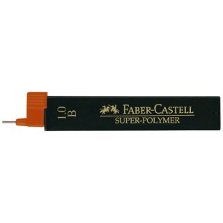 Faber Castell Super Polymer Feinminen, 12 Minen / 1.0 (0.9) mm