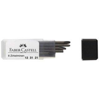 Faber-Castell Zirkelminen, 6 Stck/Pck.