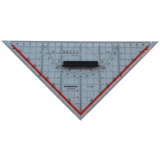 Rumold Geodreieck Zeichendreieck, Länge Hypotenuse: 250 mm, mit abnehmbarem Griff