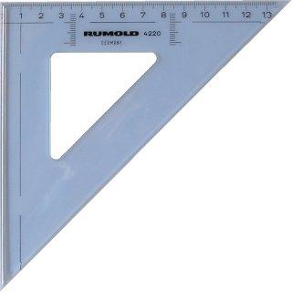 Rumold Zeichendreieck aus hochwertigem Kunststoff, Länge: 25cm