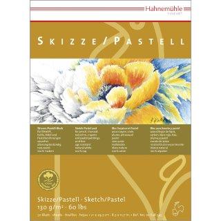 Hahnemühle Skizzen/Pastellblock DIN A2 / 130 g/m² / 30 Blatt