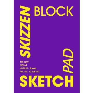 Hahnemühle Skizzenblock, 185 g/m², DIN A4, 40 Blatt