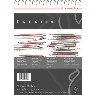 Hahnemühle Skizzenblock DIN A4 / 100 g/m² / 100 Blatt, spiralisiert