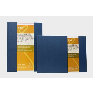 Hahnemühle Skizzenbuch D&S, DIN A4, blau, 80 Blatt, 140 g/m², Fadenheftung
