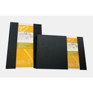 Hahnemühle Skizzenbuch D&S, DIN A4, schwarz, 80 Blatt, 140 g/m², Fadenheftung
