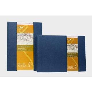 Hahnemühle Skizzenbuch D&S, DIN A5, blau, 80 Blatt, 140 g/m², Fadenheftung