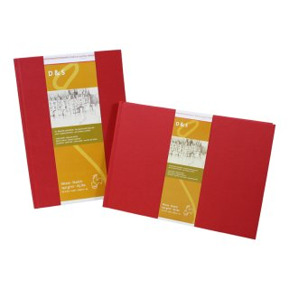 Hahnemühle Skizzenbuch D&S, DIN A5, rot, 80 Blatt, 140 g/m², Fadenheftung