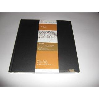 Hahnemühle Skizzenbuch D&S, Format 25,0 x 25,0 cm, schwarz, 80 Blatt, 140 g/m², Fadenheftung