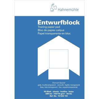 Hahnemühle Transparentpapier Block A3 / 110 - 115 g/m² / 50 Blatt
