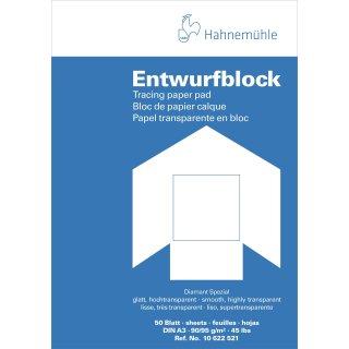 Hahnemühle Transparentpapier Block A3 / 90 - 95 g/m² / 50 Blatt