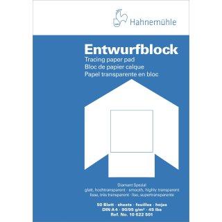 Hahnemühle Transparentpapier Block A4 / 90 - 95 g/m² / 50 Blatt