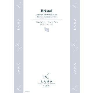 Hahnemühle Zeichenkarton Bristol DIN A4 / 250 g/m² / 20 Blatt / Kopfgeleimt